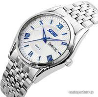 Мужские наручные часы SKMEI 9102 белый с синим, фото 1