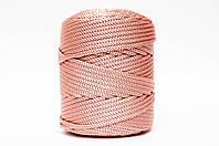 Трикотажный полиэфирный шнур PP Cord 5 mm,цвет  темная пудра