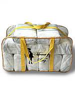 Сумка прозрачная в роддом Mommy Bag - XL - 65*35*30 см Желтая