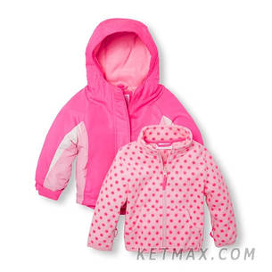 Термо куртка 2 в 1 The Children's Place для девочки, фото 2