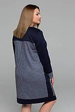 Практичне сукні великих розмірів Siri синє, фото 3