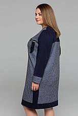 Практичне сукні великих розмірів Siri синє, фото 2