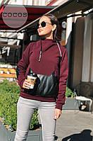 Свитшот тёплый карман Кошка женский в расцветках 27934, фото 1