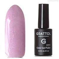 Grattol Color Gel Polish LS Onyx 09 (ліловий, з блискітками голографик)