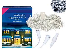 Новогодняя гирлянда Бахрома 100 LED Белый холодный цвет 4,5 м