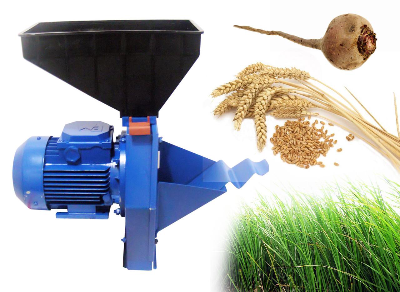 Корморезка (Кормоизмельчитель / Зернодробилка) Эликор 1 исп 4 для зерна, травы и корнеплодов