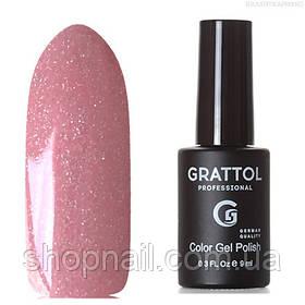 Grattol Color Gel Polish LS Onyx 13 (пепельно-розовый, с серебристыми микроблестками)