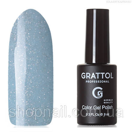 Grattol Color Gel Polish LS Onyx 14 (дымчато-голубой, с серебристыми микроблестками)