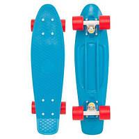 Скейтборд/скейт Penny Board синий (Пенни борд): 6 цветов (лонгборд)