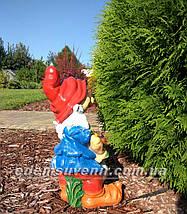 Садовая фигура Гном с гусем средний и Гном с белкой средний, фото 2