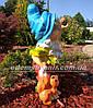 Садовая фигура Гном с гусем средний и Гном с белкой средний, фото 4
