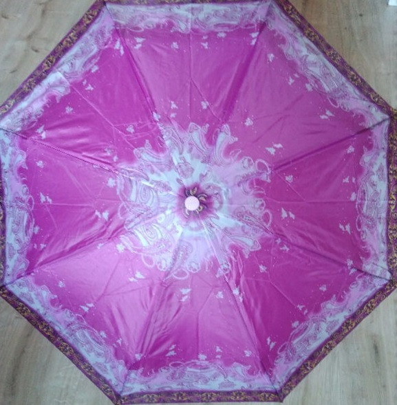 Женский складной зонт от дождя полуавтомат