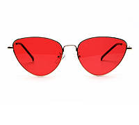 Красные солнцезащитные очки лисички Fendi