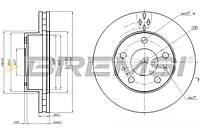 Тормозной диск перед Ducato/Boxer 06- (300x32)