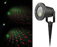 Лазерный проектор звездный дождь HOLIDAY LASER - PLUS, железный (УЗОРЫ)