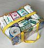 Набор из 2 прозрачных сумок в роддом Mommy Bag - S,L - Синие, фото 6