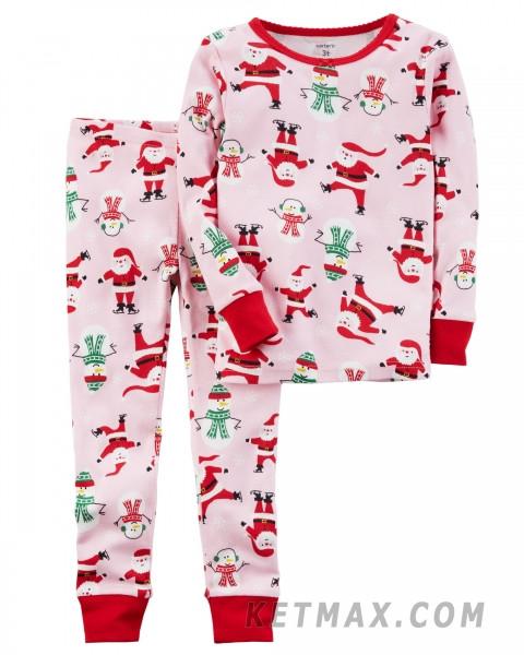 Новогодняя пижама Carter's для девочки