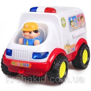 """Игровой набор доктора """"Машинка скорой помощи"""" 836 (ездит, муз.,свет, звук, фигурки), размер 20-12,5-12 см, фото 2"""