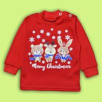 Джемпер для малышей Счастливого Рождества, интерлок пенье (68, 74, 80, 92 см)