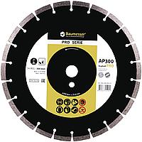 Круг алмазный Baumesser Asphalt Pro 300 мм отрезной сегментный диск по асфальту и свежему бетону, Дистар