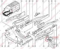 Усилитель переднего бампера (поперечина кузова) Renault Master IV (2010-……) 752108967R
