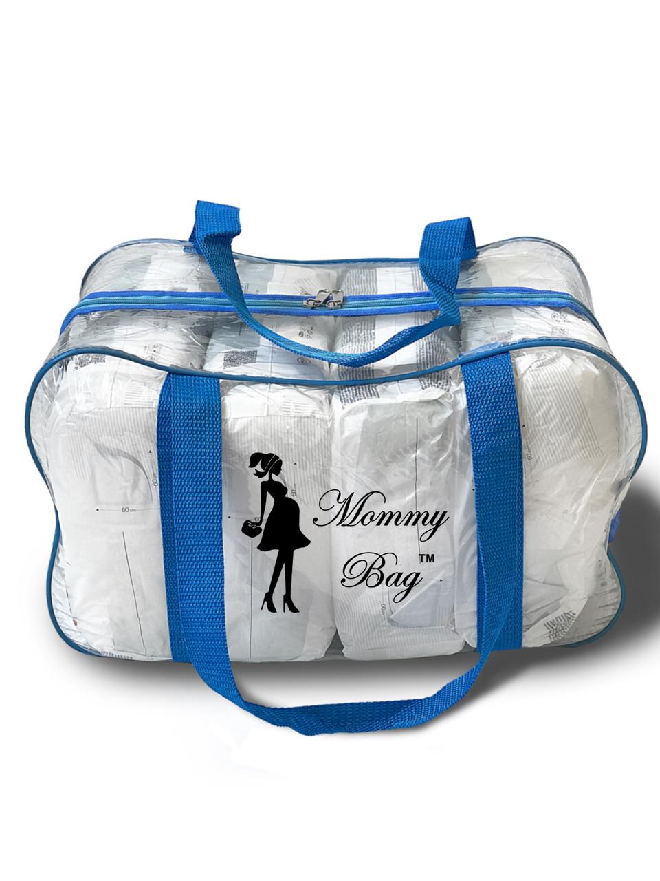 Сумка прозрачная в роддом Mommy Bag - M - 40*25*20 см Синяя