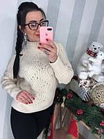 Женский красивый теплый свитер (расцветки), фото 1