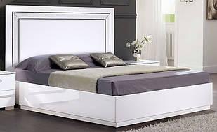 Ліжко1.6 двоспальне з  МДФВенеція біла Слониммебель