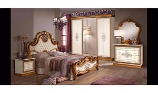 Спальня комплект з ДСП/МДФ Аніта180 з 6-ти дверною шафою білий Слониммебель