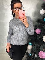 Женский стильный свитер с люрексом (3 цвета), фото 1
