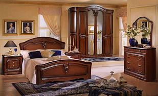 Спальня комплект з ДСП/МДФ Валерія40  180  з 6-ти дверною шафою ясен горіх Слониммебель