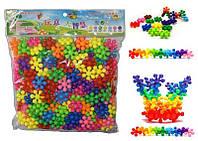 3D конструктор Puzzle Blocks Снежинки (200 шт)