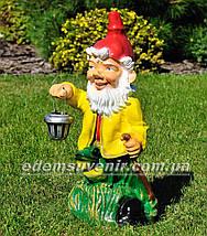 Садовая фигура Гномы лесники большие с фонарями, фото 2