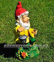 Садовая фигура Гномы лесники большие с фонарями, фото 3