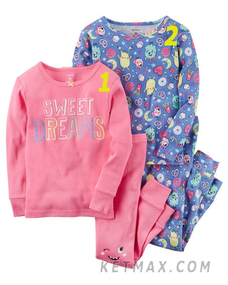 Пижамы Carter's для девочки поштучно