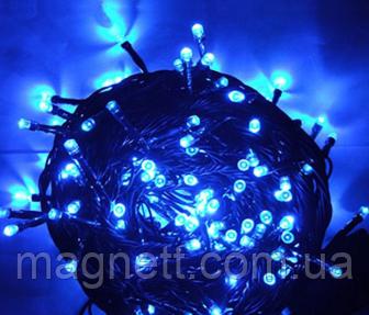 Гирлянда электрическая светодиодная LED 500 лампочек синяя