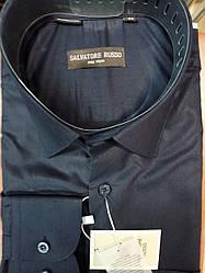 "Рубашка мужская ""Salvatore Russo"" SDK 7022 синяя"