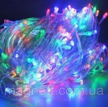 Гирлянда электрическая светодиодная LED 300 лампочек разноцветная