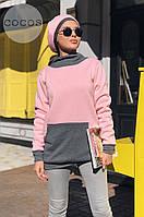 Свитшот тёплый с капюшоном женский в расцветках 27932, фото 1