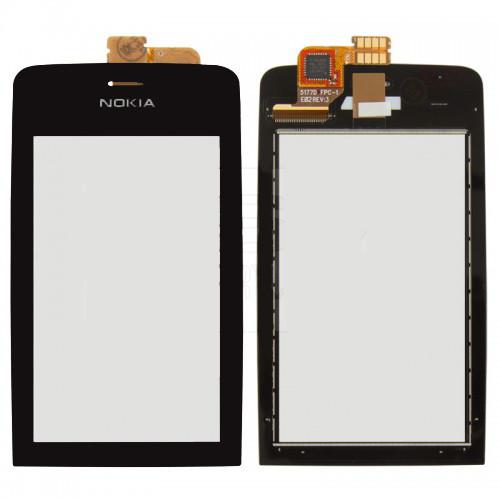 Сенсорний екран для смартфону Nokia Asha 308, 309, 310 чорний