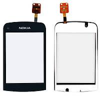 Сенсорний екран для смартфону Nokia C2-02, C2-03, C2-06, C2-07, C2-08 чорний