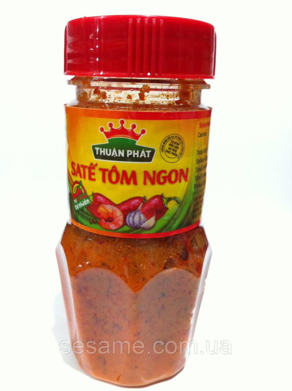 Креветочная овочева гостра паста Thuan Phat Sate Tom Ngon 85г (В'єтнам)