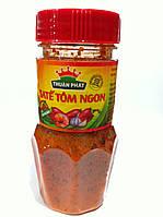 Креветочная овочева гостра паста Thuan Phat Sate Tom Ngon 85г (В'єтнам), фото 1