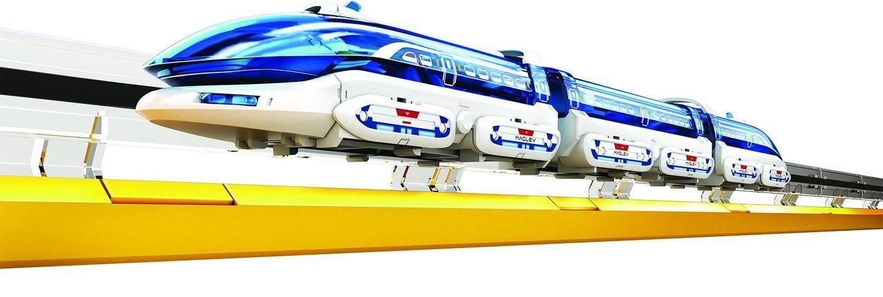 CIC 21-633 поезд на магнитной подушке, конструктор для развития детей