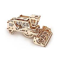 Механічний 3D-пазл UGEARS Комбайн, конструктор для розвитку дітей
