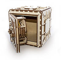 Механічний 3D-пазл UGEARS Сейф, конструктор для розвитку дітей