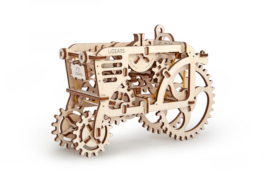 Механічний 3D-пазл UGEARS Трактор, конструктор для розвитку дітей