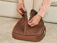 Вибромассажер - электрогрелка для ног 2 в 1 с застежкой (массажер для ног,массажная подушка), фото 1