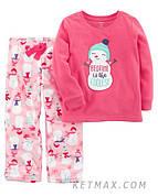 Флисовая пижама Carter's для девочки