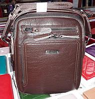 Мужская сумка Bradford 8922-1 малая на три отдела из искусственной кожи 20х24х7см Коричневый, фото 1